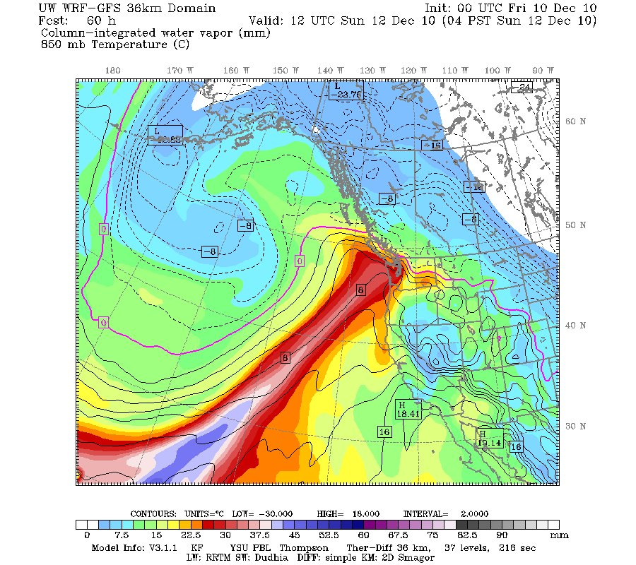 Atmospheric River preceding Upper low in Mid-latitudes off of US West Coast